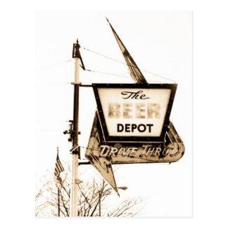 Het depot Vintage Ann Arbor, Michigan van het Bier Briefkaart