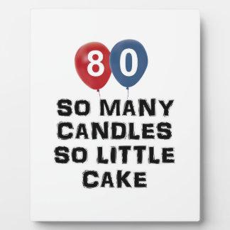 het design van 80 éénjarigenkaars fotoplaat