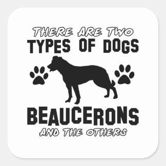 Het design van Beaucerons Vierkante Sticker