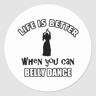 Het design van Bellydancing Ronde Sticker