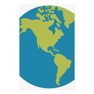 Het Design van de Continenten van de Wereld van de Briefpapier