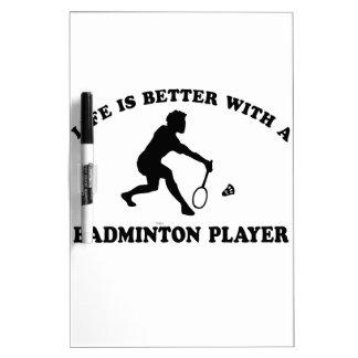 Het Design van de Sporten van het badminton Whiteboards
