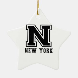 Het Design van de Staat van New York Keramisch Ster Ornament