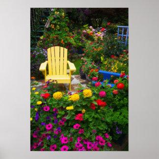 Het design van de tuin in onze Tuin Sammamish, Poster