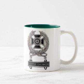 Het deskundige Kenteken van de Drinker van de Tweekleurige Koffiemok