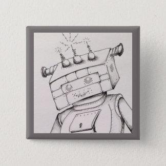 Het Detail van de Tekening van de robot, 2 Vierkante Button 5,1 Cm