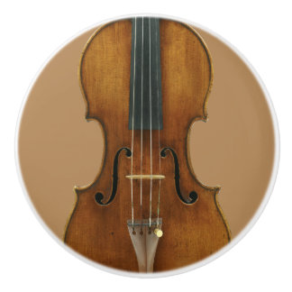 Het Detail van de Viool van Stradivari Keramische Knop