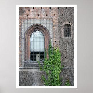 Het Detail van het Venster van Sforza Poster