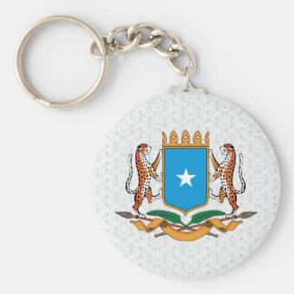 Het detail van het Wapenschild van Somalië Basic Ronde Button Sleutelhanger
