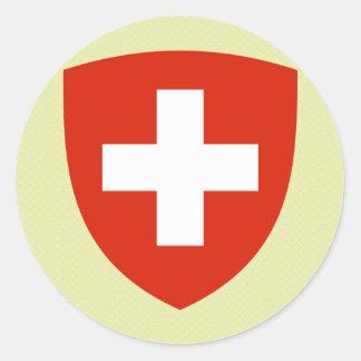 Het detail van het Wapenschild van Zwitserland Ronde Sticker