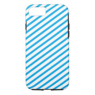 Het diagonale Blauwe Patroon van de Streep iPhone 8/7 Hoesje