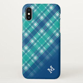 Het diagonale Blauwgroen en Blauwe Monogram van de