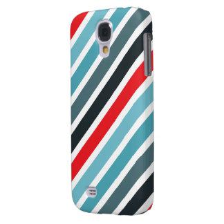 Het diagonale Rode Patroon van de Streep en Gestre Galaxy S4 Hoesje