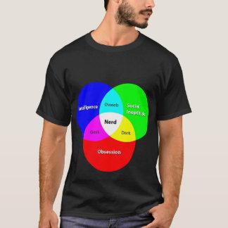 Het Diagram T van Venn van Nerd T Shirt