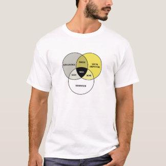 Het diagram van Venn: Nerd/Geek/Dork/Dweeb T Shirt