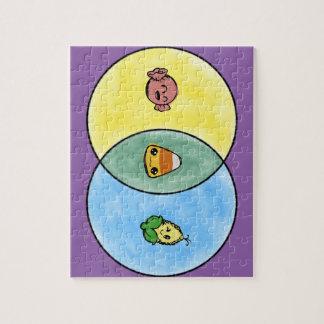 Het Diagram van Venn van het Graan van het snoep Legpuzzel
