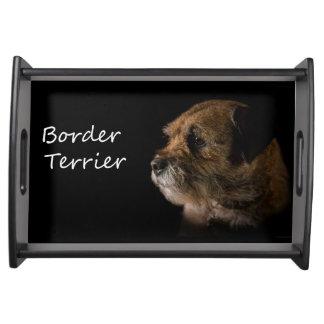 Het dienblad van Terrier van de grens