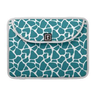 Het diepe Blauwgroen Patroon van de Giraf MacBook Pro Beschermhoes