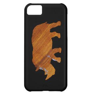het dier van de houten-blikrinoceros iPhone 5C hoesje