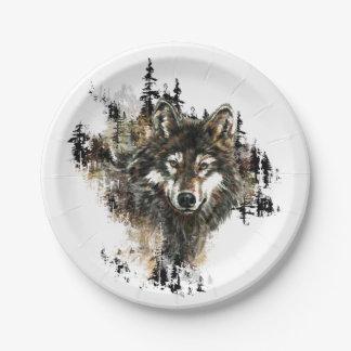 Het Dierlijke Art. van de Berg van de Wolf van de Papieren Bordjes