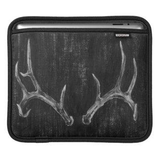 Het Dierlijke Hoofd van rustieke Herten op Bord iPad Sleeve