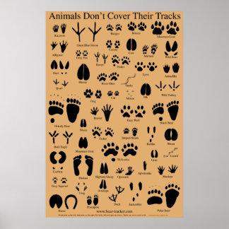 Het dierlijke Poster van Sporen