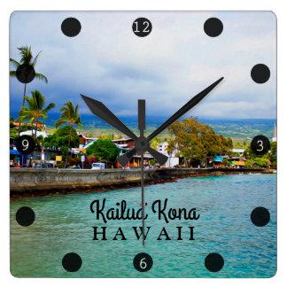 Het Digitale Art. van de Olieverf van Hawaï van de Vierkante Klok