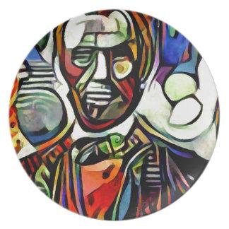 Het digitale kleurrijke schilderen van Abraham Melamine+bord