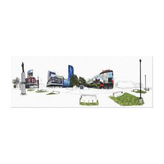 Het digitale schilderen van Brian Lara Promenade Canvas Afdruk