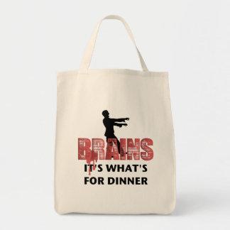 Het Diner van de Hersenen van de zombie Boodschappen Draagtas