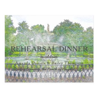 Het Diner van de Repetitie van de Waterverf van de Briefkaart