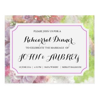 Het Diner van de repetitie voor het Huwelijk van Briefkaart