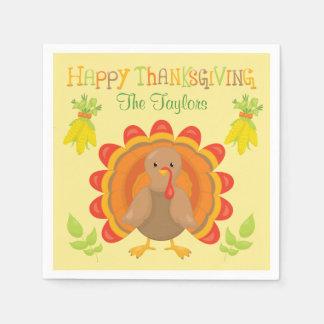 Het Diner van Turkije van de Thanksgiving Papieren Servet