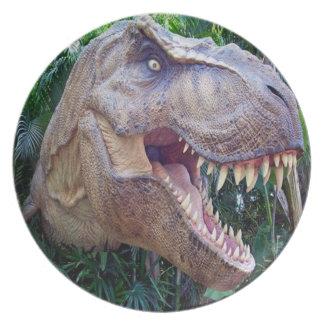 Het dinerborden van de dinosaurus voor kind melamine+bord