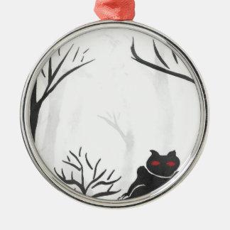 Het ding in het Bos Zilverkleurig Rond Ornament