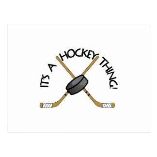 Het Ding van het hockey Briefkaart