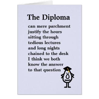 Het diploma wenskaart