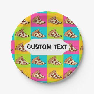 Het document van de de plakkendouane van de pizza papieren bordje