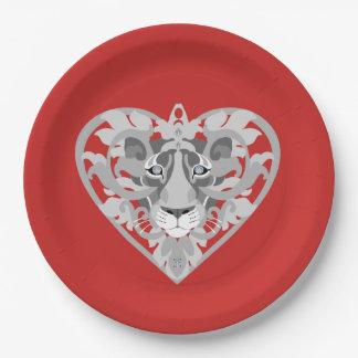 Het document van de Leeuwin van de liefde rood) Papieren Bordje