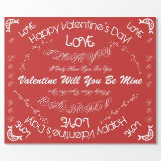 Het document van de Valentijnsdag Inpakpapier