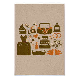 Het document van het huwelijk Groet met kleding, 8,9x12,7 Uitnodiging Kaart