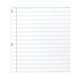 Het Document van het notitieboekje Kladblok