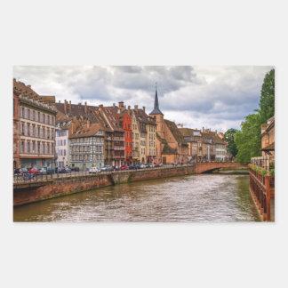 Het dok van het Saint Nicolas in Straatsburg, Rechthoekige Sticker