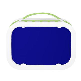 Het donkerblauwe & Groene Eigentijdse Aanvullen Lunchbox