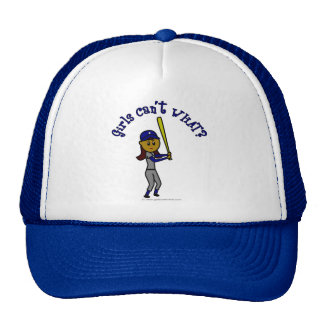 Het donkerblauwe Softball van Meisjes Petten