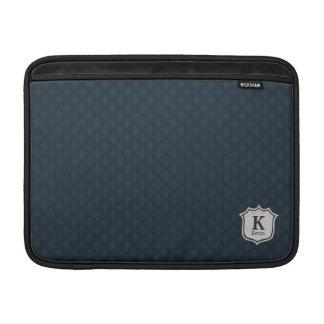 Het donkere Marineblauwe Monogram van het Schild MacBook Beschermhoezen