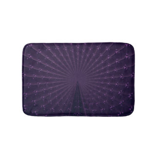Het donkere Paarse Fractal Patroon van de Veer van Badmat