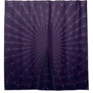 Het donkere Paarse Fractal Patroon van de Veer van Douchegordijn