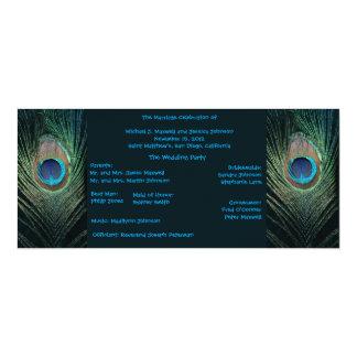 Het donkere Programma van het Huwelijk van de Pauw 10,2x23,5 Uitnodiging Kaart