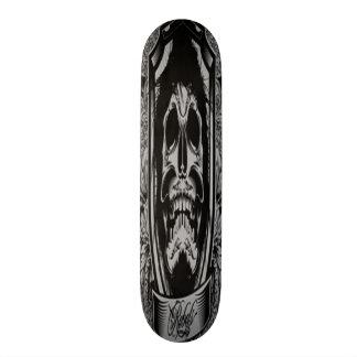 Het donkere Skateboard van de Schedel